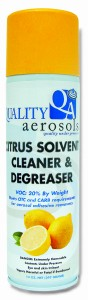 Quality Aerosols Citrus Solvent Cleaner & Degreaser