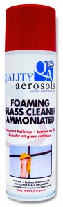 Quality Aerosols Foaming Glass Cleaner